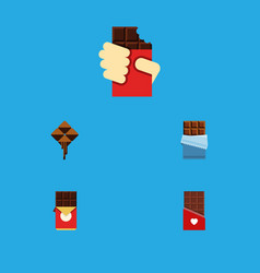 Flat icon sweet set of shaped box delicious vector