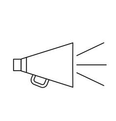 line horn speaker studio to film scene vector image vector image