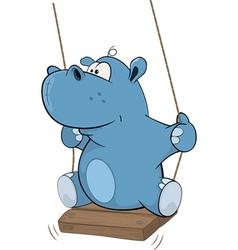 little hippo Cartoon vector image