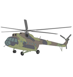 mi-8 helicopter vector image