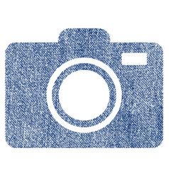 photo camera fabric textured icon vector image