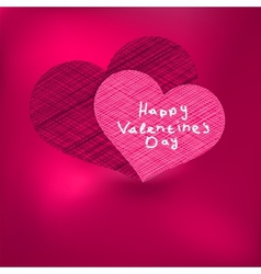 Valentines Day Card template EPS8 vector image vector image