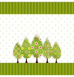abstract springtime blossom tree vector image vector image