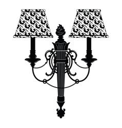 Baroque elegant rich wall lamp vector
