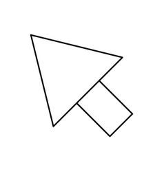 Black silhouette of arrowhead icon vector