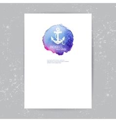 brochure template with anchor logo vector image vector image
