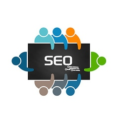 People doing search engine optimization analysis vector