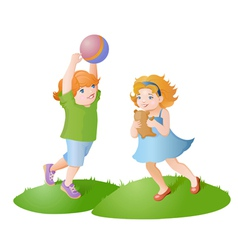 Playing kids vector image vector image