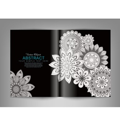 reversal template magazine with black and white or vector image vector image