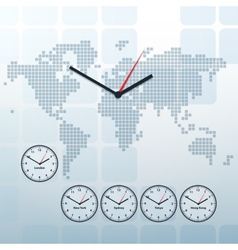 world map and world-time vector image