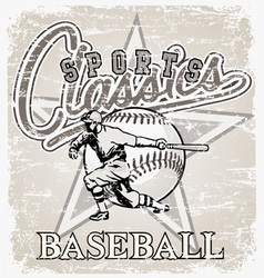 classic sport baseball vector image vector image