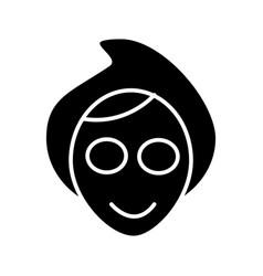 face spa mask icon black vector image