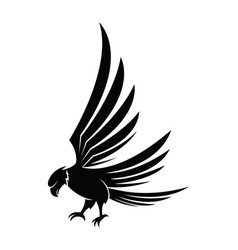 hawk icon isolated on a white background vector image