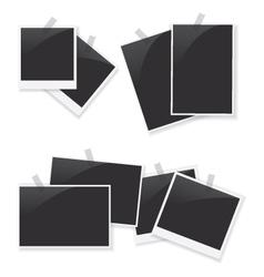 Photo frame set vector image vector image