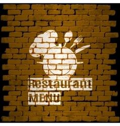 restaurant menu template on a background brick vector image