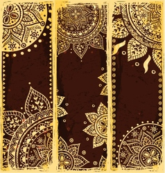 Set of ethnic bookmarks vector image vector image