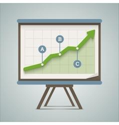 Growing chart presentation vector image