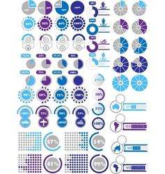 INFOGRAPHICS ELEMENTS 2 PURPLE vector image vector image