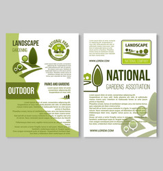 landscape design and gardening poster template vector image vector image