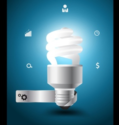 Light bulb idea concept with business icons vector image vector image