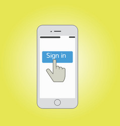 mobile sign in vector image