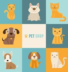pet shop logo design templates vector image vector image