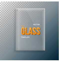 realistic glass frame template set vector image