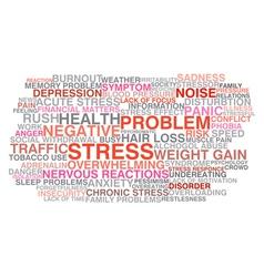 Stress symptoms vector image vector image