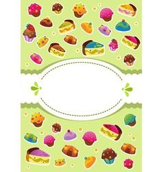 sweet cover menu vector image vector image