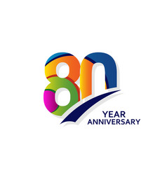 80 years elegant anniversary celebration template vector