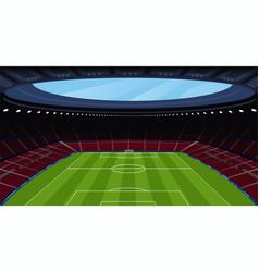 A huge empty soccer stadium vector