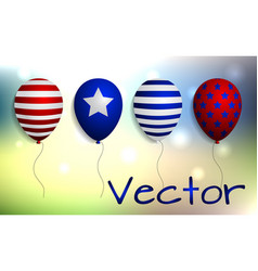 abstract background with colorful balloons vector image