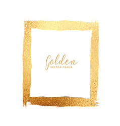 Abstract gold foil texture frame vector