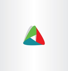 abstract tech triangle business logo icon sign vector image