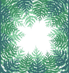 Background with green trees vector
