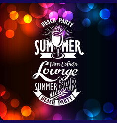 banner for night summer beach party vector image