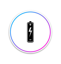 battery icon isolated on white background circle vector image