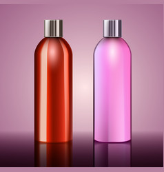 Body cosmetics ads template orange and pink vector
