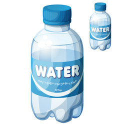 bottle of water cartoon icon isolated on vector image
