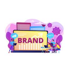 Branded workshop concept vector