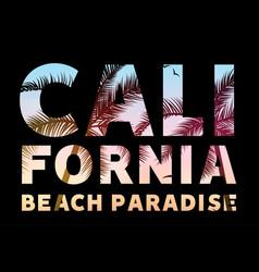 california tropical poster banner template vector image