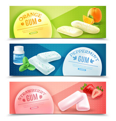 Chewing gum banners set vector