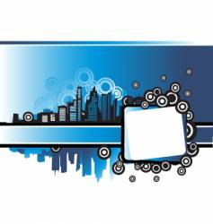 cityscape urban frame vector image