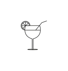 Coctail icon vector