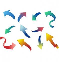 colorful 3d arrows illustration vector image