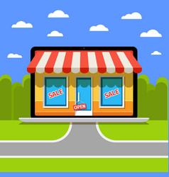 Concept of online shop vector