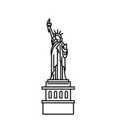 concept of statue of liberty vector image