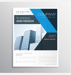 Corporate brand business leaflet or brochure vector