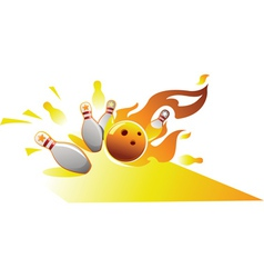 design element for bowling sport vector image