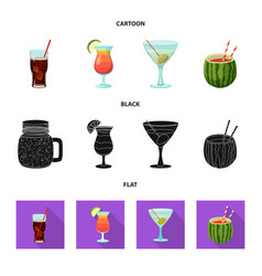 Design of drink and bar symbol set of vector